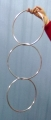 "Chinese Linking Rings Deluxe 10"" with Locking Key (set of 3)"