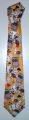 Cravatta Gialla con Carte Colorate - C 005G
